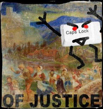 cap locks of justice