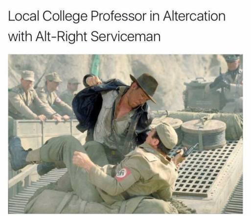 local professor altercation with alt-right indiana jones