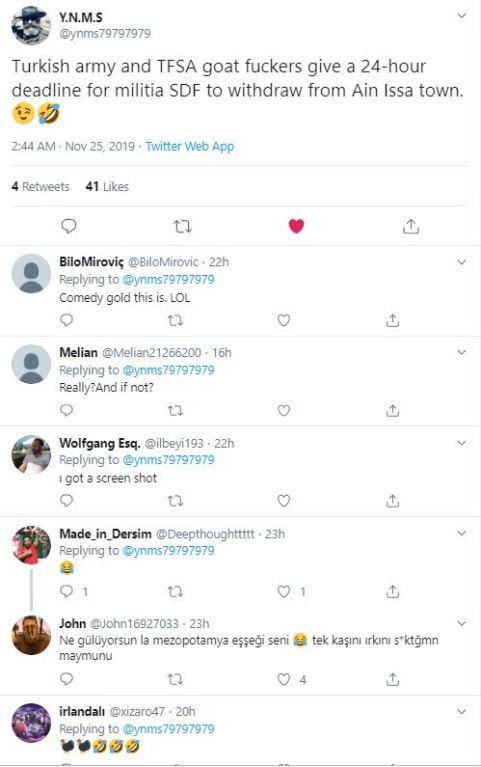 tweet responses laugh turkish 24 hours 11-25-19