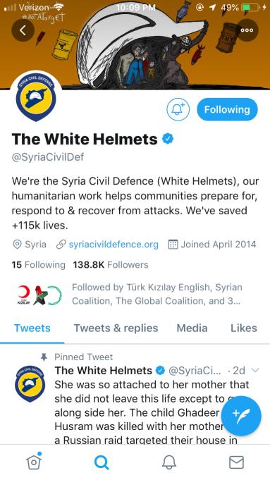 White Helmets Twitter