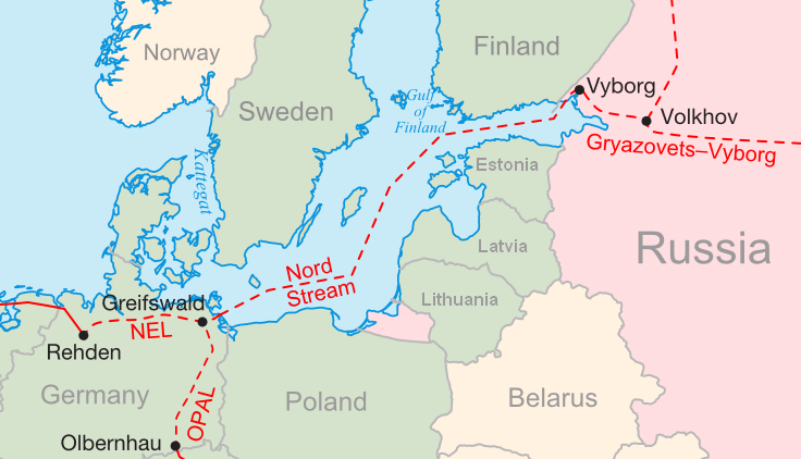nord stream russia pipeline germany