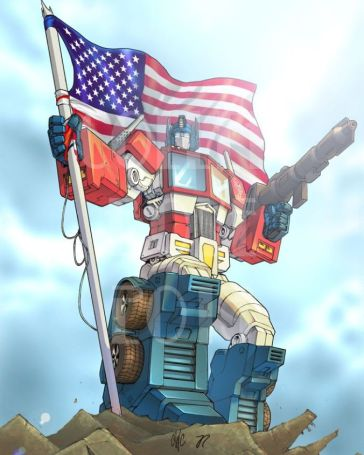 optimus-prime-usa-flag