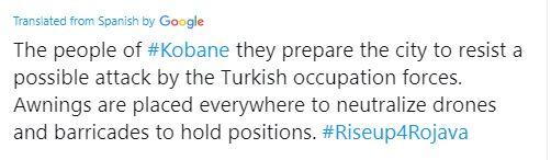 tweet translation kobane storm brewing